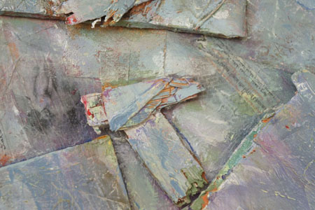 lowres JulienneJohnson CriesandWhispers  detail 2012 72x96  oil with mixed media including pigment transfers collage 350dpi
