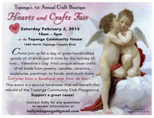 Sat Feb2 Topanga hearts crafts