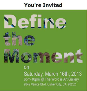 Sat March16 WordisArt DefinetheMoment