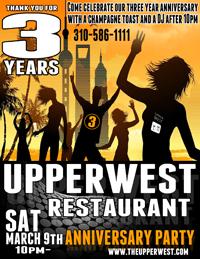 Sat March9 UpperWest 3yrannivesary