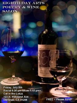 Fri 7.5 8thDayPoetry-WineSalon