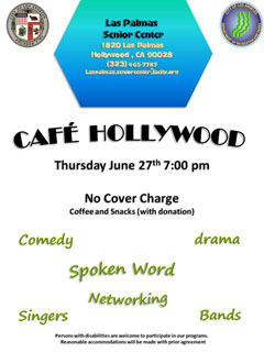 Thurs June27 CafeHollywood