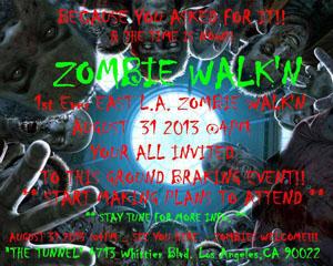 WU 8.31 zombieWalkflyer