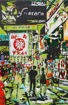 lores BrrokeHarker HongKongLove 40x26ink oil acryliconcanvas2013