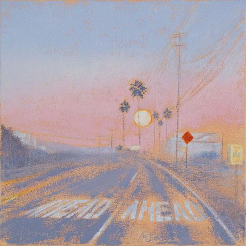 May24-bGGallery-GaySummerRick-MoonAhead 12x12  Oil on Canvas