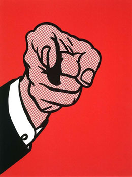 POW-June8-SMAuctionsRoyLichtenstein Finger