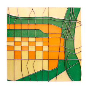 McGilvray Camey LABoogieWoogie acrylic wood wire 48x48x4in