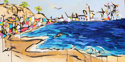 lowres-rookeHarker-CoastalDreamin-1-ink-oil-acrylic-on-canvas30x60