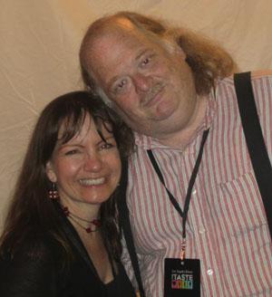 Kathy andFoodCritic Jonathan Gold