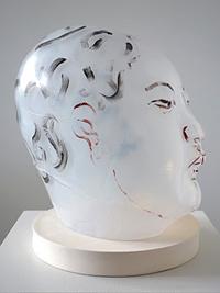Sat-Nove8-FrankLLoyd-AkioTakamoriWhiteWoman-2014mold-bownglasswithoilpaint-ceramicbase