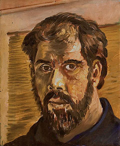 Sat-Jan17-2015-GilkeGallery-Roberto-Chavez Self-Portrait-with-Beard 1214c