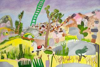 Sat-Mar21-Shulamit LaddertoDad-2014-Oiloncanvas-40x60in