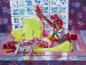 Sat-June13-bGGallery-SarahSteiberwhatTheDuck-acrylicon-canvas