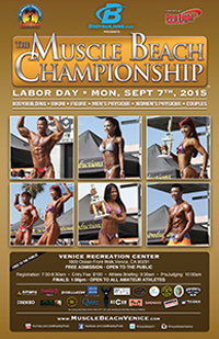 MonSept7-LaborDay-MuscleBeach2015 poster