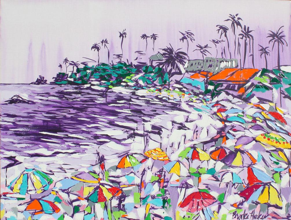 Feb21-UpperWest-BrookeHarker-Festive Days 36 x 48 by Brooke Harker ink acrylic  oil on canvas s