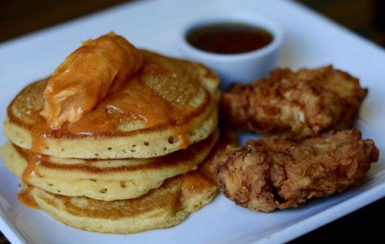 Nighthawk FriedChickenan-sweetPotato Pancake