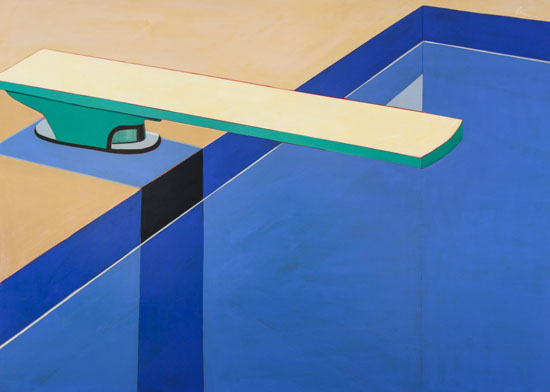 -4-Huff-MelissaChandon-PostModern-Poolwith-DivingBoard-65x85-acrylic-on-canvas
