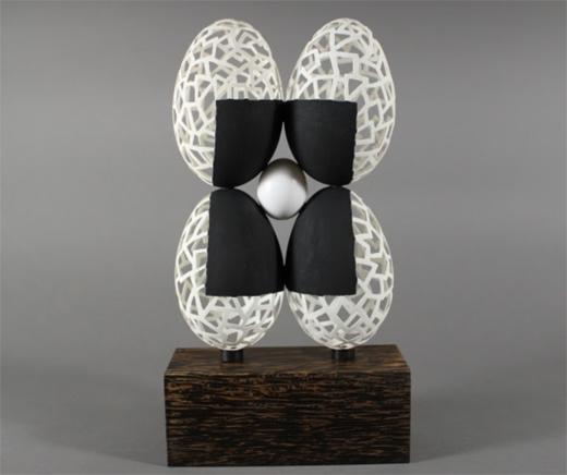 March16-520-LoisLambert-BlackSquare-Gooseanddoveeggshells-acrylic-wood-11x5x3