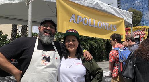 May2019-520-LAFoodBowl-Review-fromETG-AtuttaPizza-Apollonias Pizzeria-owners-JustinandLindaDeLeon